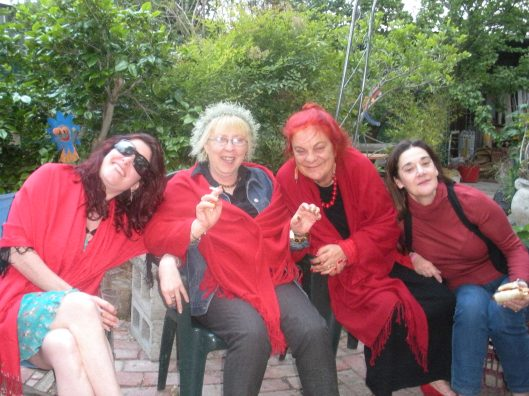 Red riding hoods...