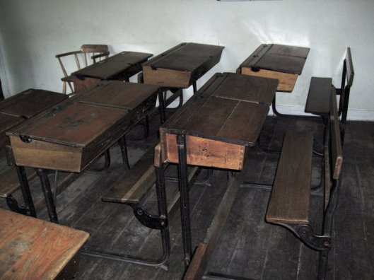 old-wooden-school-desks