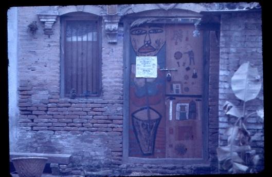 photo credit John C. Chick.  Rose mushroom nightclub door, 1970's.