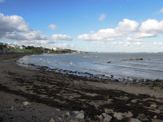 Sewage beach at Salthill.