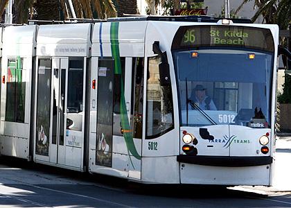 A St Kilda Beach tram.